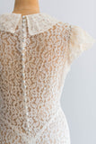 [SOLD] Lace Bias Cut Peter Pan Gown