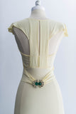[SOLD] Cream Art Deco Dress