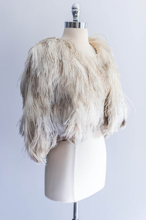 [SOLD] Ostrich Feather Cape