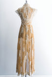 [SOLD] 1930s Tulle Embroidered Wedding Dressing Gown
