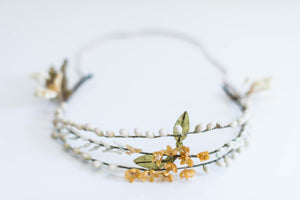 [SOLD] Antique Triple Band Wax Floral Tiara