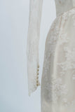 [SOLD] White Lace Wiggle Wedding Dress