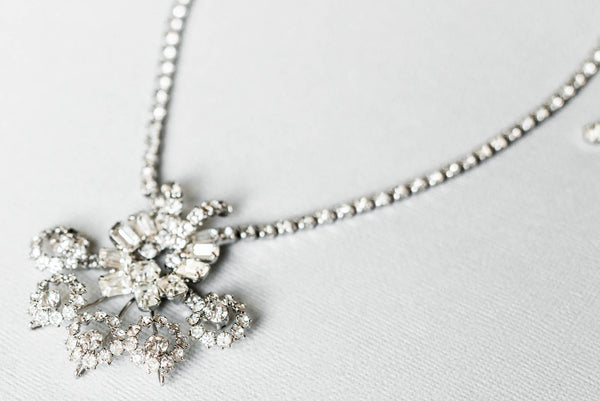 1950's Sunburst Crystal Necklace