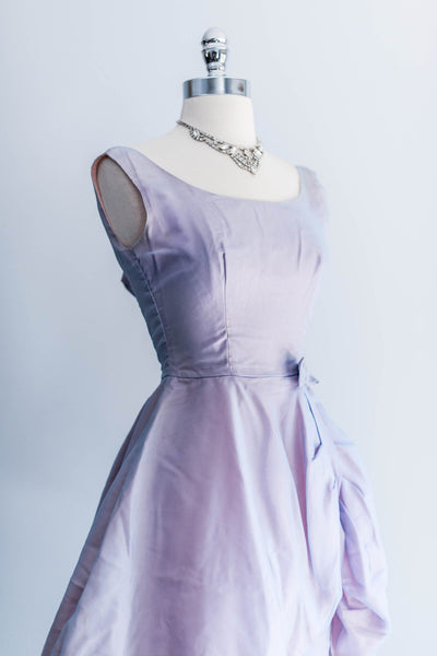 1960s Lavender Peplum Dress - XS
