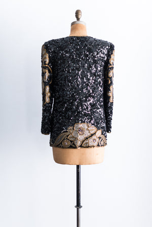 1980's Beaded Baroque Jacket - L