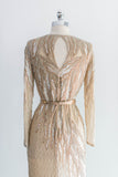 [SOLD] Silk Gold Bob Mackie Beaded Column Dress