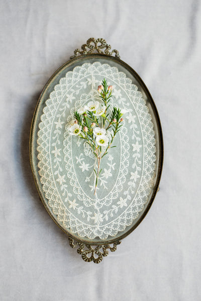RARE Small Victorian Glass Tray