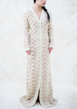 1970s Crochet Button-Up Gown - M