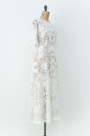 RESERVED Detailed Edwardian Lace Dress - S/M