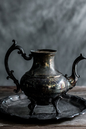 Antique Pewter Pitcher