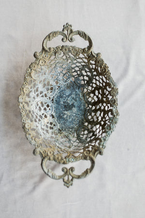 Antique Detailed Metal Tray/Dish