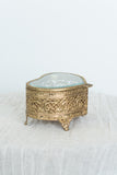 Vintage Heart Ormolu Trinket Box