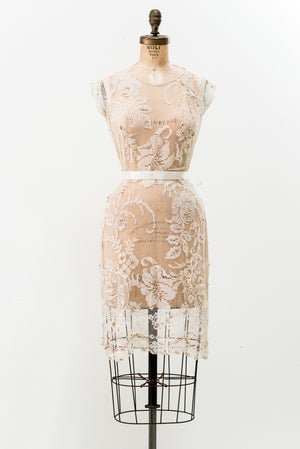 1920s Filet Lace Overdress - S/M