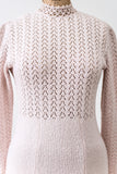 Vintage Light Pink Knit Dress - S/M