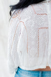 Antique Edwardian Embroidered Top - S