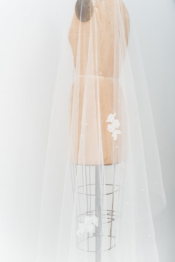 1950s Cathedral Tulle Veil