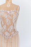 Vintage Strapless Lace Negligee - S/M