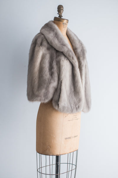 1950s Grey Mink Jacket - S/M