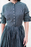 1950s Cotton Print Dress - XXS/XS