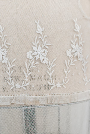 Edwardian Embroidered Tulle Gown - S/M