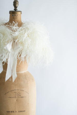 1950s Ostrich Feather Stole - One Size