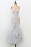Marchesa Light Blue Mermaid Gown - S