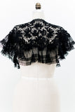 Antique Black Irish Lace Collar/Mantle - One Size