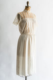 1980s Sheer Chiffon Dress - M