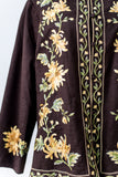 1970s Brown Embroidered Jacket - M/L
