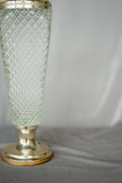 Rare Antique Textured Angled Glass Pitcher