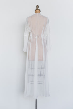 Vintage Lace and Chiffon Dressing Robe - S/M