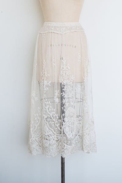 Edwardian Princess Lace Skirt - M/L