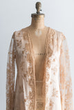 1920s Silk and Lace French Dressing Robe - One Size