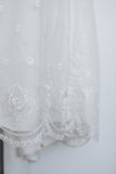 1980s Long Sleeve Needle Lace Dress - S/M