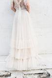 1970s Swiss Dot Tulle Gown - XS/S
