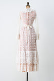 1970s Crochet Lace Dress - XS/S