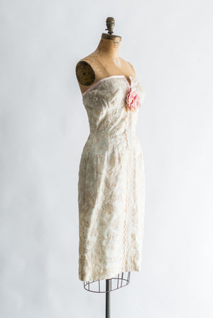 1950s Silk Organza Lace Dress - XS/S