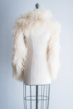 1950s Long Ostrich Feather Stole Lined with Satin