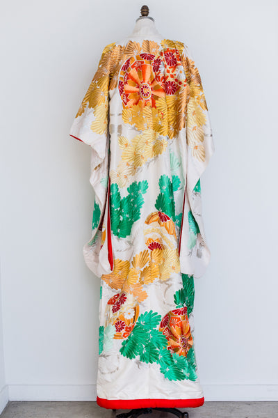 Vintage Wedding Ceremony Kimono - One Size