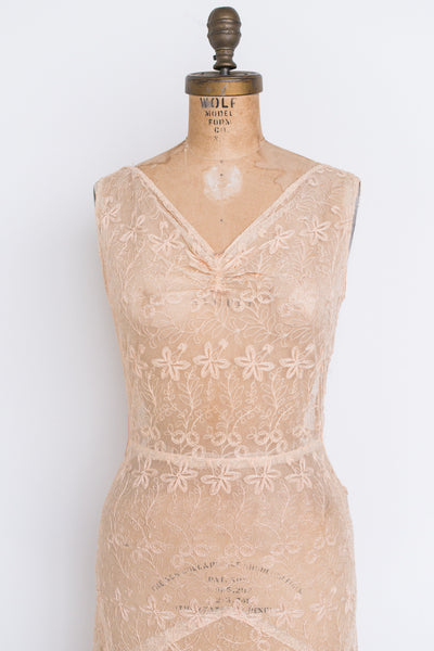 1930s Needle Lace Dress - XS/S