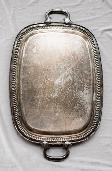 Antique Rectangular Tray with Handles