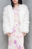 Vintage Ivory Feather Coat - S/M