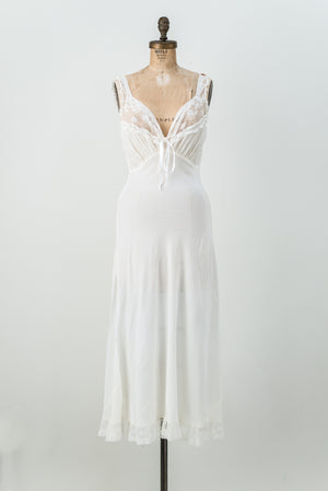 1930s Chiffon and Rayon Slip - S