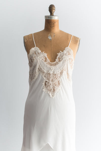 Vintage Chiffon and Lace Negligee - S/M