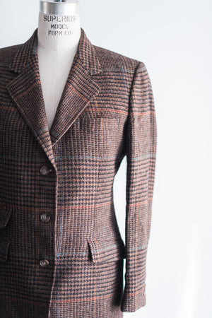 Vintage Tweed Brooks Brothers Plaid Blazer - M/6-8