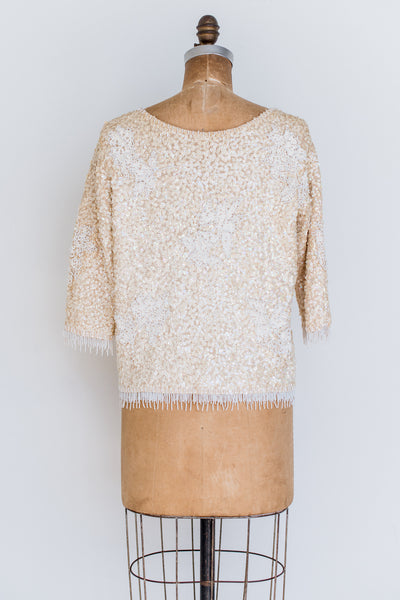 1950s Sequined Sweater/Top - S/M