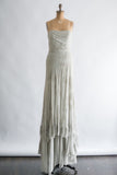 RENTAL J Mendel Powder Blue Silk Chiffon Gown - S