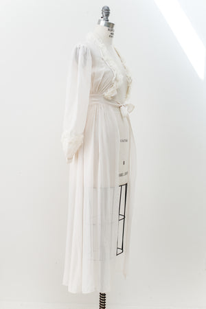 1930s Chiffon and Tulle Dressing Gown - XS