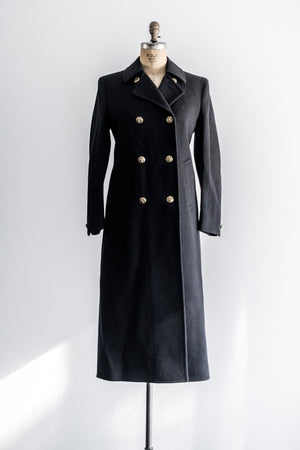Vintage Wool Double Breasted Coat - M/US 6