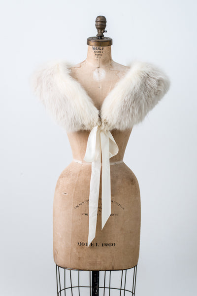 1950s Arctic Fox Collar - One Size